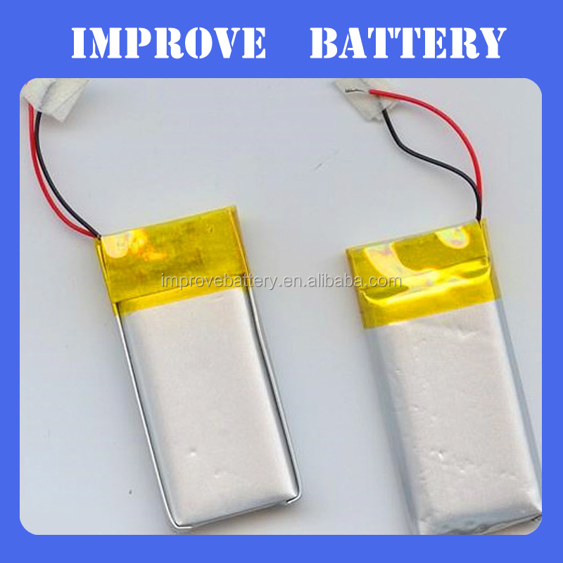 bluetooth watch battery polymer li ion battery 3.7v 301525 75mah