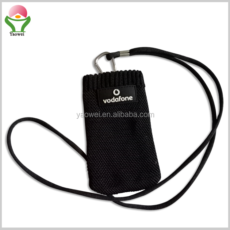 NEWest fashion hot selling Promotional knitted cell phone bag, mobile phone sock ,phone pocket