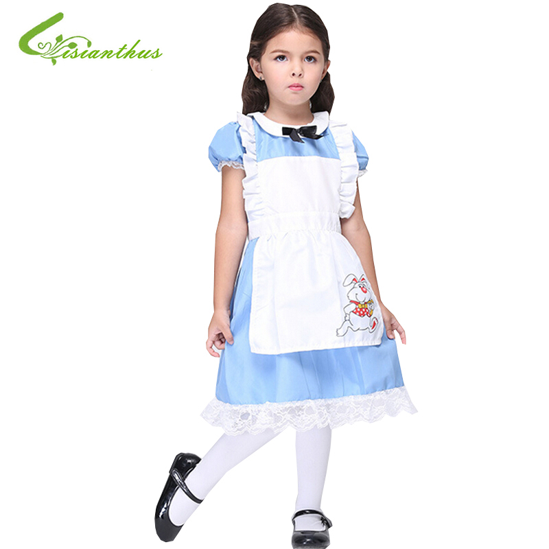 Halloween Maid Costumes Little Girls Alice in Wonderland Costume Suit Maids Lolita font b Fancy b