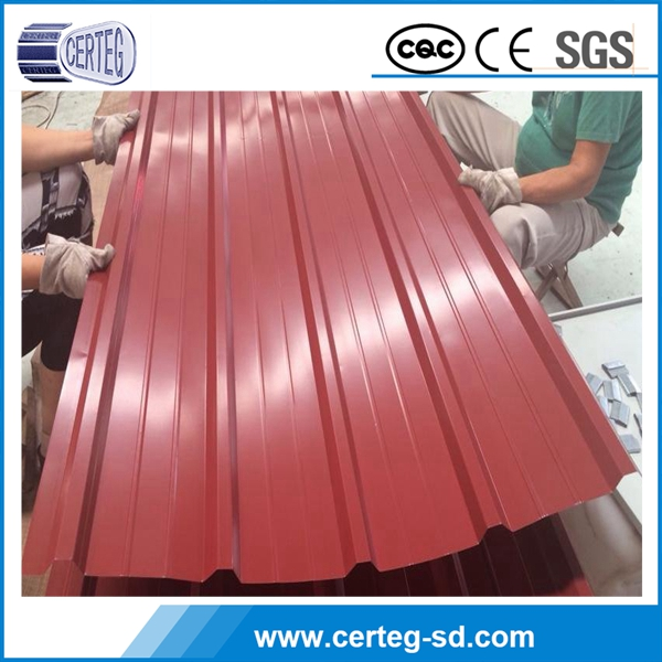 God toughness color prepainted color coated galvanized steel sheet roofing material