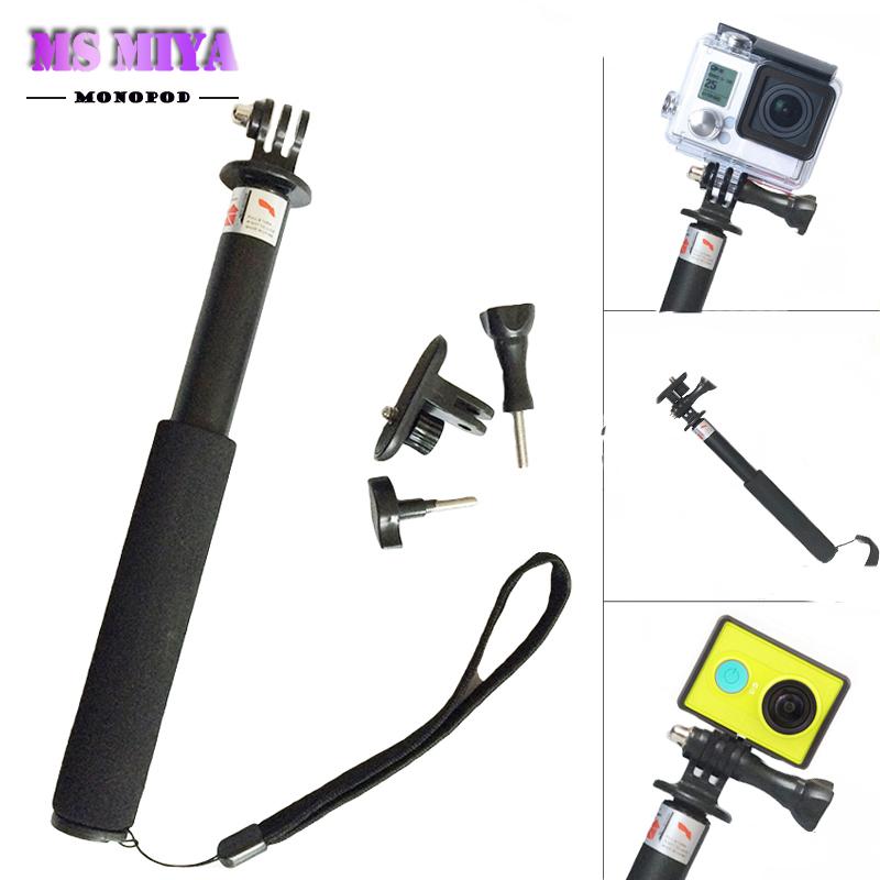 Gopro selfie Extendable Pole Telescopic Stick Monopod with gopro mount for GoPro Hero 4 1 2 3+ 4 SJ4000 Hero4 go pro Self-bar