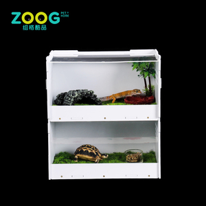 Home & garden customized PVC acrylic reptile terrarium screen cage