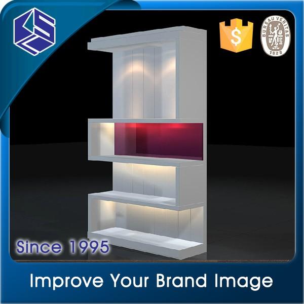Fancy Design Las Shoes Wooden Shelf Commercial Shoe Display Rack