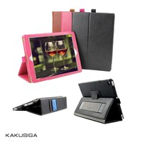 Kaku professional wholesale price smart cover case for ipad air /air 2 with belt