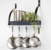 Modern Metal material Wall Mounted Kitchen Rack Pot Pan Rack Kitchen Organizer with 10 Hooks
