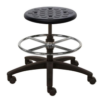 Laboratory PU simple tilting mechanism lab stool chair