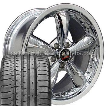 18 Bullet Rims Fit Mustang Gt Set Of 4 Chrome Bullitt Wheels And 4