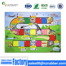 Custom Printing cloth surface natural rubber outdoor play folding mats