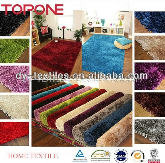 Large colorful cheap polyester home decorative shaggy rug