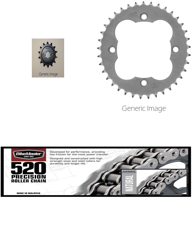 520 BMOR Sealed Chain Front /& Rear Sprocket Kit for ATV//UTV HONDA ATC350X 1986