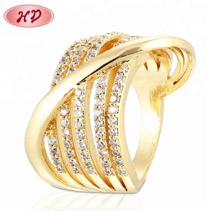 Entwined Diamond Ring,Dubai Copper Alloy Brass Rings Gold Rings Design For Women