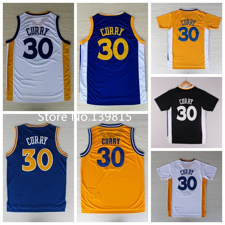 best service 4b251 6ad2a Super Star Golden State #30 Stephen Curry White Blue Yellow ...
