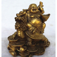 custom made handmade carved antique resin laughing buddha