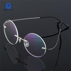 da4d3992e7 Round Glasses Frame Men Titanium pc Glasses Optical Prescription Reading  Clear Lens Myopia Eyewear Frame Women