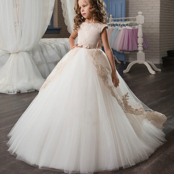 f604a1a38c7 Boutique Wholesale Kids Girl Dress Wedding Party Girls Ball Gowns  Sleeveless Lace Bridesmaid Dresses