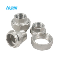 SS Threaded Union 304/304L Forged Stainless Steel Pipe Fitting Union Class 3000 NPT Femalee union