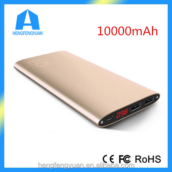 Promotional 10000mAh Super Slim Alluminum Alloy Power Bank,Universal Portable Battery Slim Power Bank Charger 10000mAh