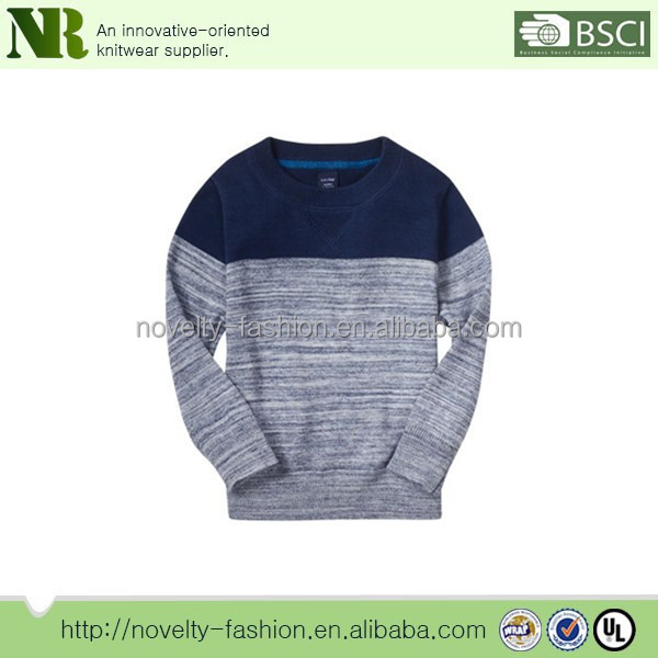 color block texture long sleeve sweater for boys 2016 boys sweater knit for kids clothes baby