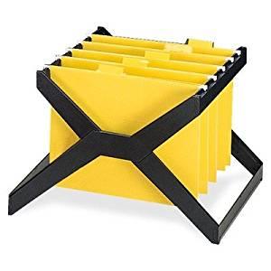 deflect-o X-Rack for Hanging Folders - X-Rack Letter/Legal Size Hanging File, Plastic, 16 x 12 x 11, Black