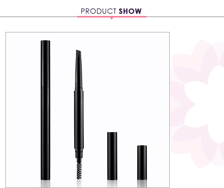 Double sided empty eyebrow pencil packaging with high cost performance