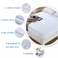 hospital white bed sheets Mattress cover protectors for household hotels