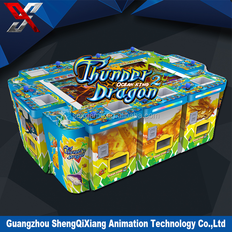 Amusement green dragon legend fish game machine, Designer classical gaming machine slots fish game with high win rate