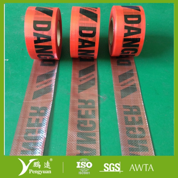 Hot sale danger warning tape for forest