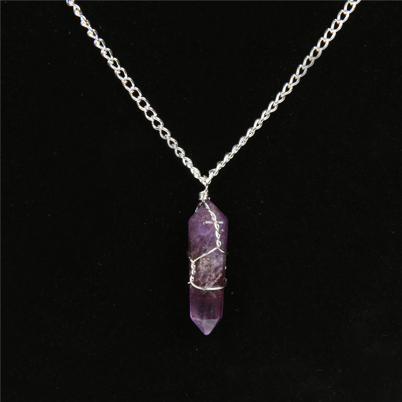 amethyst crystal necklace - photo #8