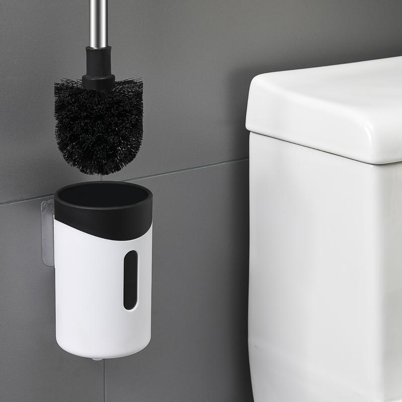 2019 neue produkt dekorative wand halterung kunststoff edelstahl wc-bürstenhalter set