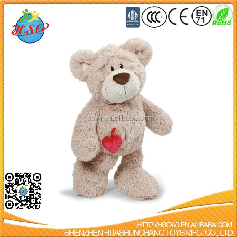 teddy bear with red heart for Valentine gift