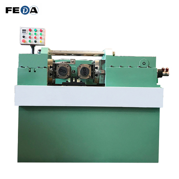 FEDA threading galvanized water pipe used manual hydraulic presses rebar screw thread rolling machine