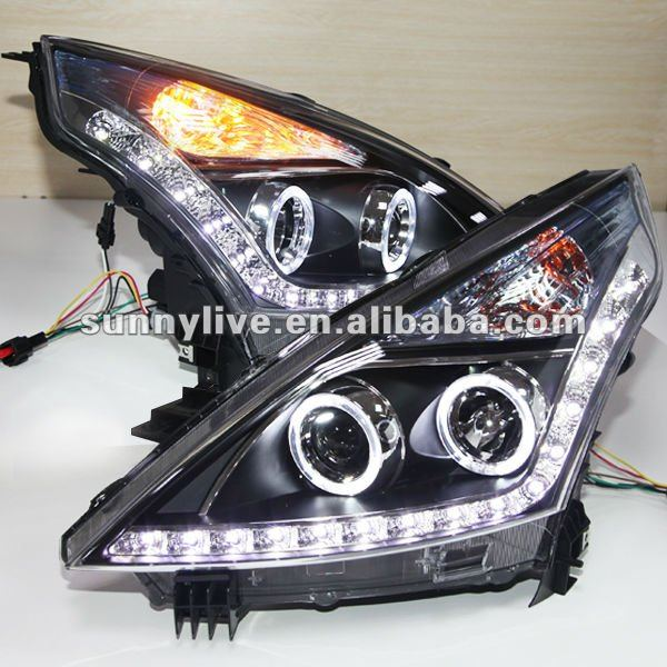 per nissan teana led angel eyes faro 2008 11 per v3