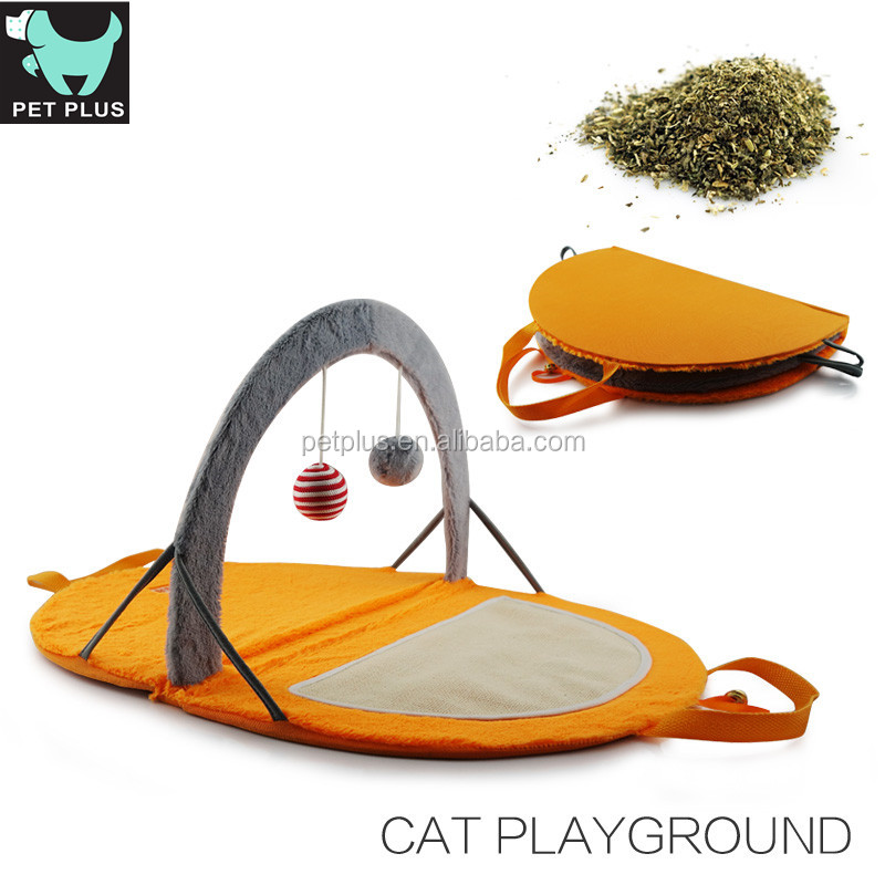 pet toy plush cat toys fabric chew toy with catnip cat tunnel for fun