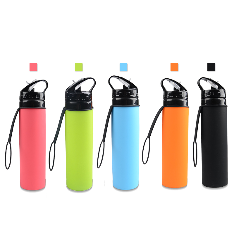 Alibaba.com / 2018 private label shaker bottle wholesale sport drink bottle collapsible silicone water bottle