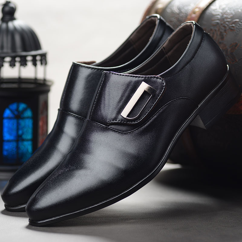 2020 Classic Brown Black Business Trip High White Class Large Size 14 Men s Leather Dress Shoes