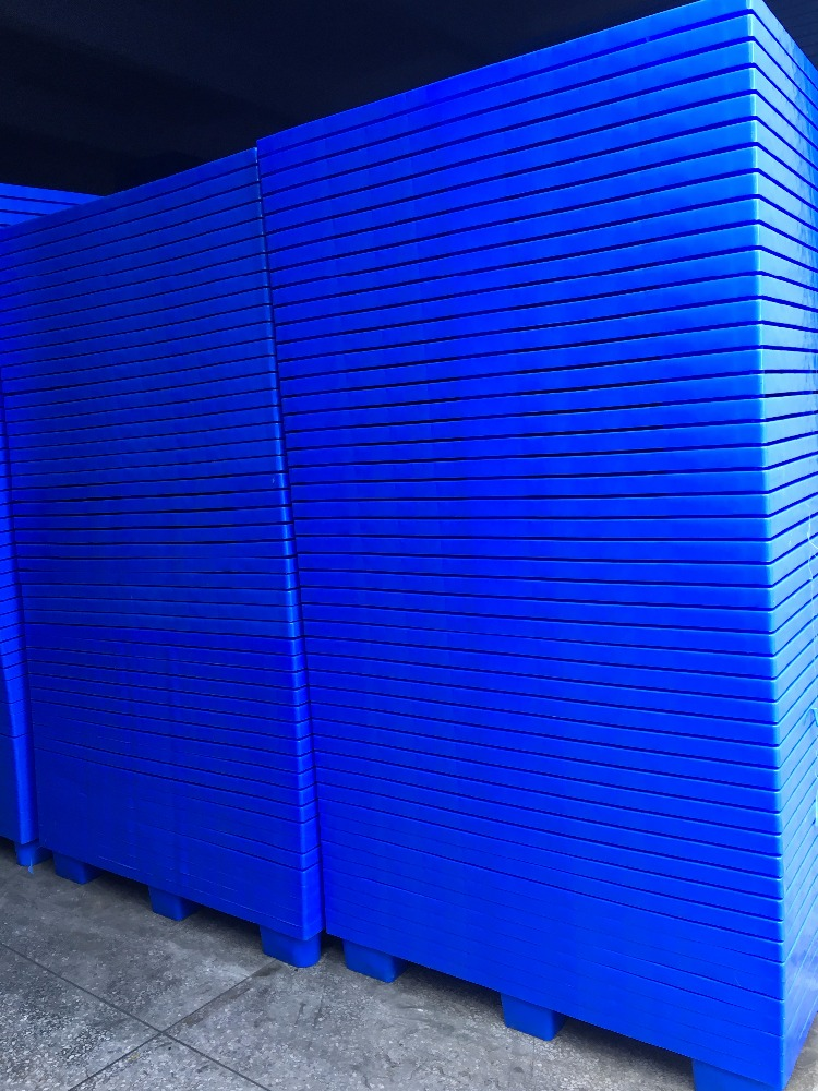 1200*1000*145mm Complete Size Wholesale Warehouse Storage for sale HDPE Single Faced Sided 9-Feet Cheap Used Plastic Pallet