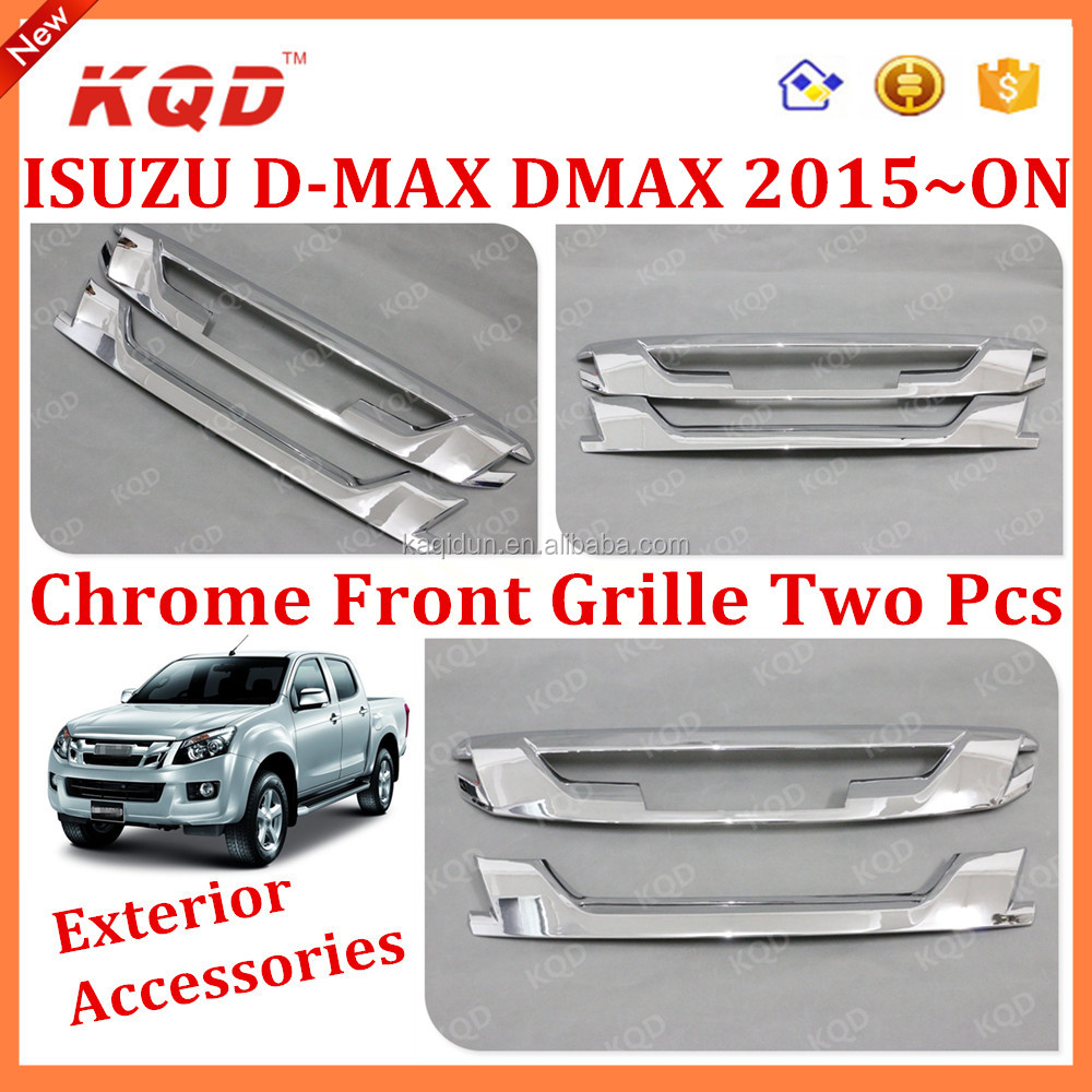 2015 New Accessory For D-MAX D-Max Front Grille Cover ABS Head Grille Cover Chrome Used DMAX D-MAX