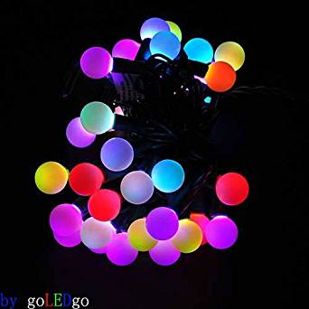 get quotations abco tech 50 rgb ball led color changing with 16 feet linkable string christmas xmas lights