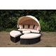 Garden sofa rattan outdoor furniture rattan wicker Sun Lounger garden pation furniture rattan cane daybed sofa