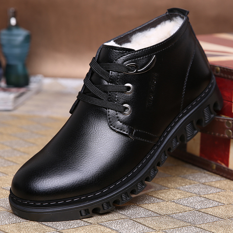 C72520A Genuine Leather Men's Boots Ankle Boots for Men