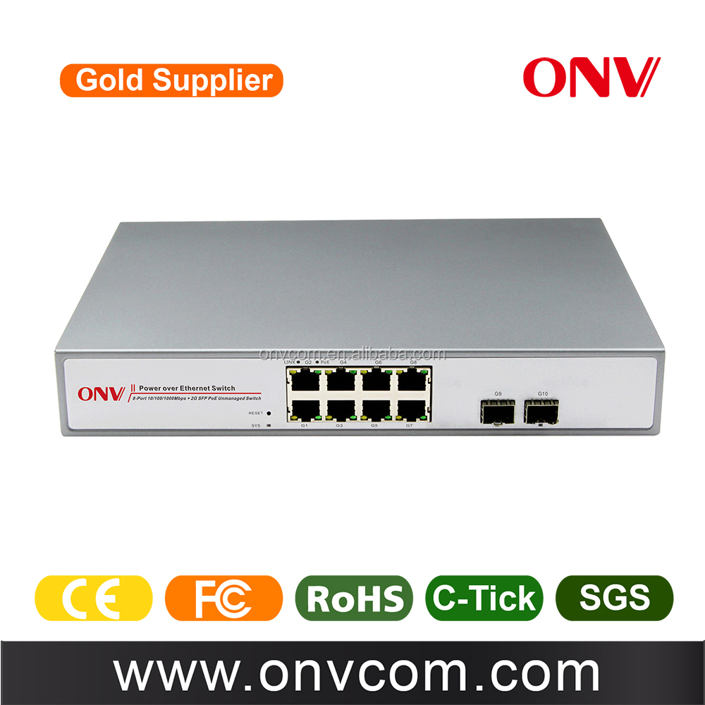 Factory price 8 Ports POE Network Switch 24V for CCTV IP Camera HD POE