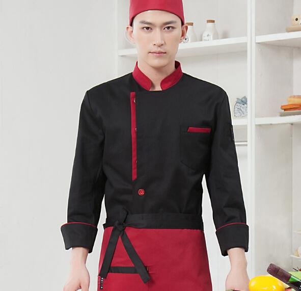 Compra Rojo chaqueta de chef online al por mayor de China