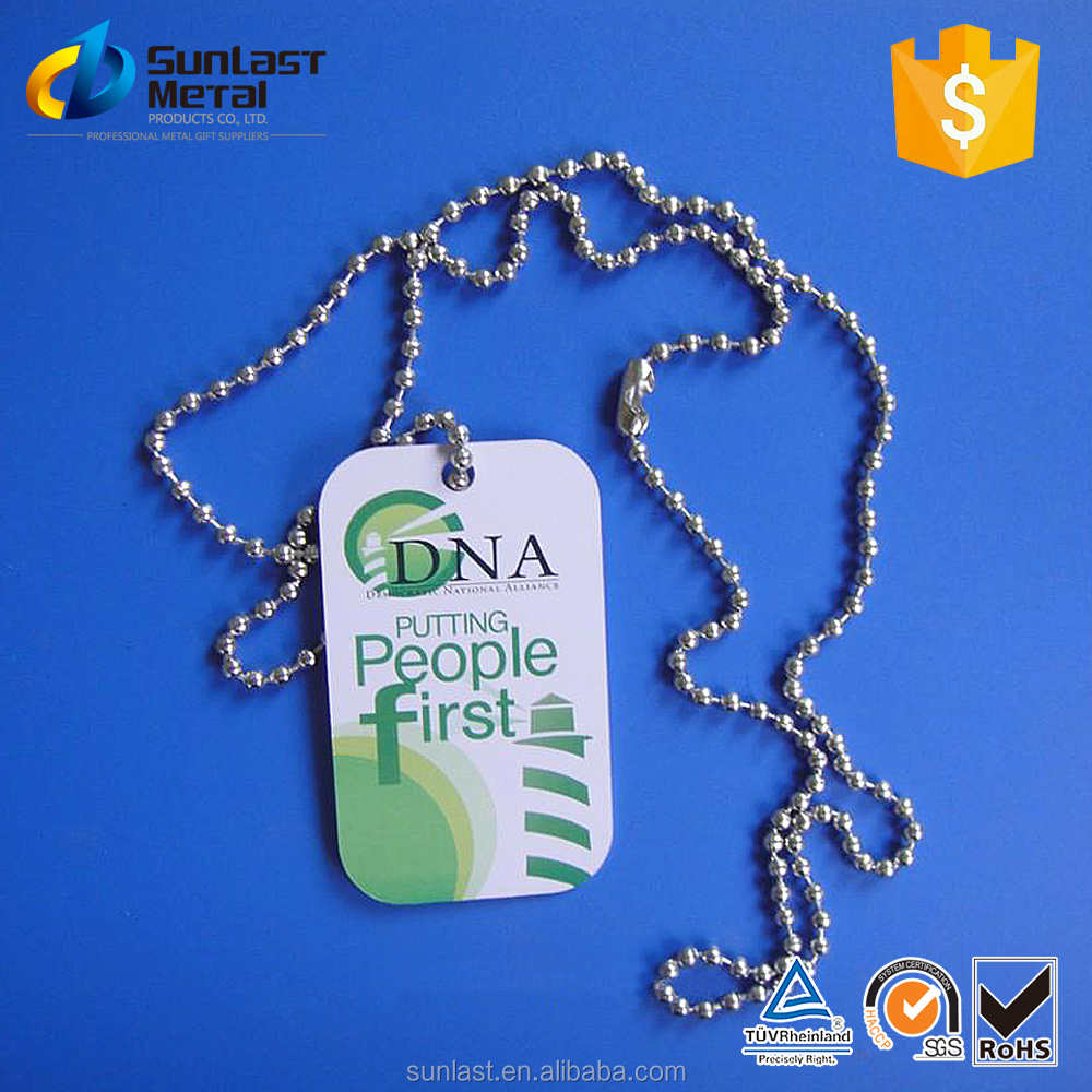 rubber cover+30cm chain+dog tag,printing logo process with your own design,promotion gift