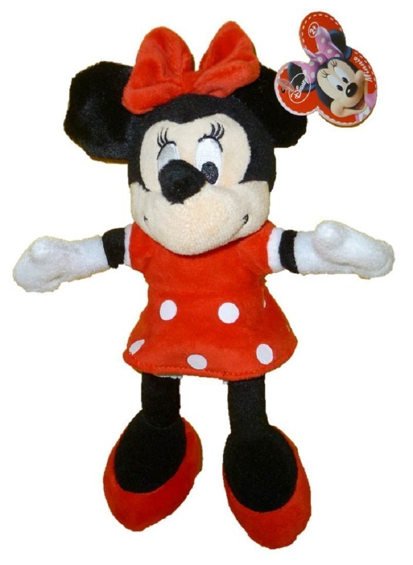 """Disney 9"""" Plush Minnie Mouse - Red Outfit"""