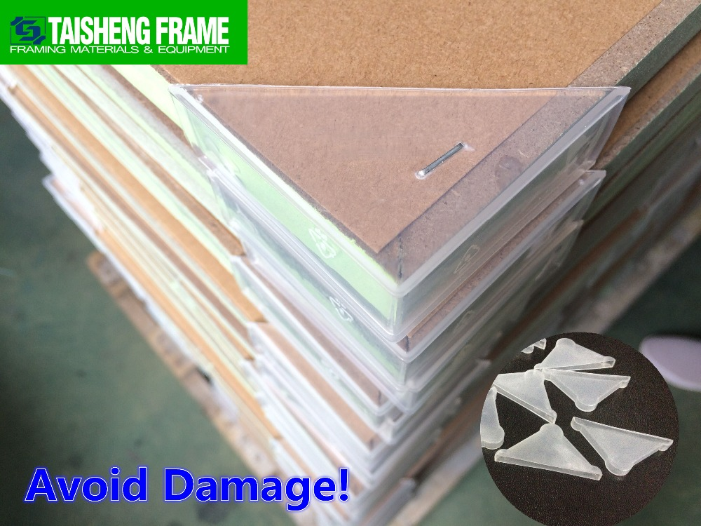 TSF42 Translucent Frame Protectors 40mm picture frame clear <strong>plastic</strong> outside corner protector