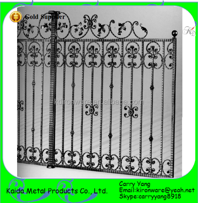 High Quality Simple Wrought Iron Yard Gates Fence Gate