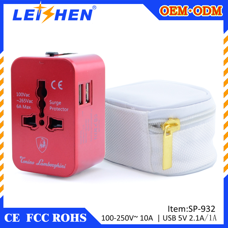 Universal travel adapter charger for mobile phone and computer