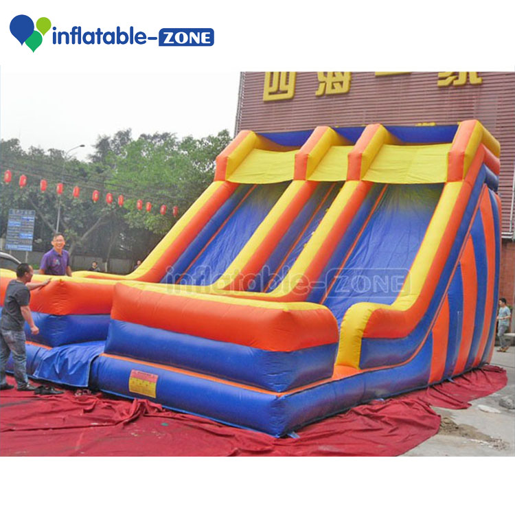 Inflatable two line slide, Inflatable giant slide for kids and adults