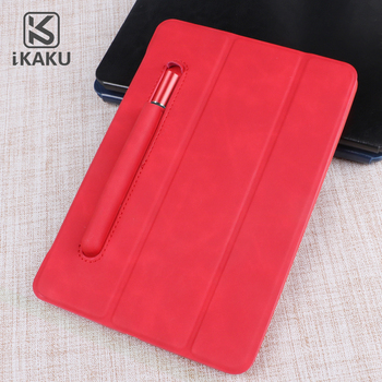 KAKU Three fold pu leather case magnetic stand with pencil holder for ipad pro 12.9 inch