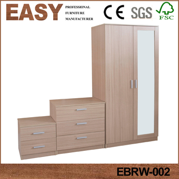 Best price bedroom furniture set wardrobe 2-3 doors drawers design